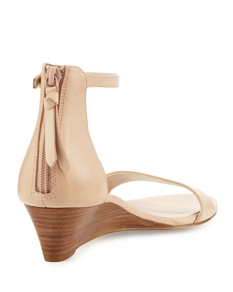 Cole Haan Adderly Leather Ankle-Strap Wedge Sandals PouOu