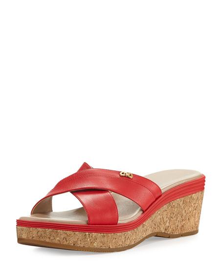 Cole Haan Briella Grand Cork Wedge Sandal, Red