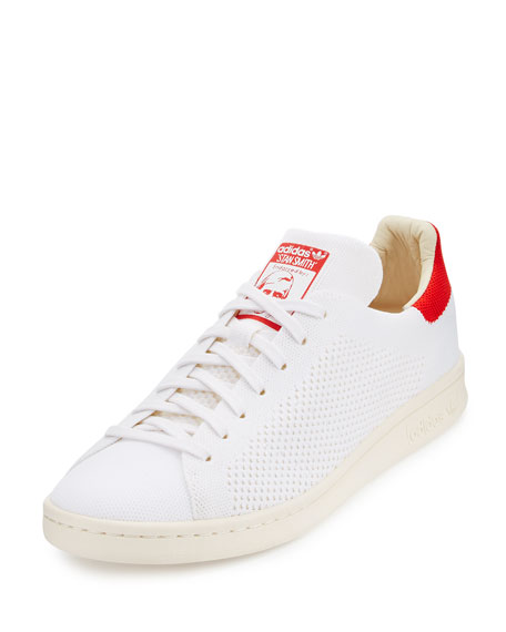 Adidas Stan Smith Primeknit Sneakers, White/Red