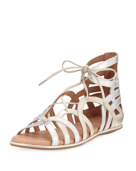 Gentle Souls Break My Heart Flat Gladiator Sandal,