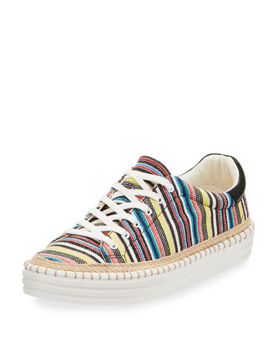 Kavi Striped Low-Top Sneaker, Multi