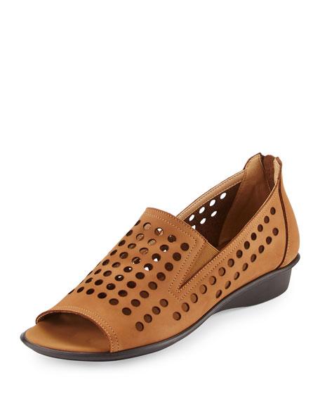 Sesto Meucci Ellen Perforated Comfort Slip-On Flat, Beige