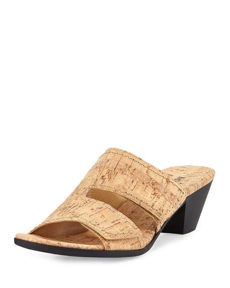 Sesto Meucci Paidyn Cork Low Slide Sandal, Beige