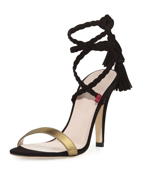 SJP by Sarah Jessica Parker Trapeze Braided Suede