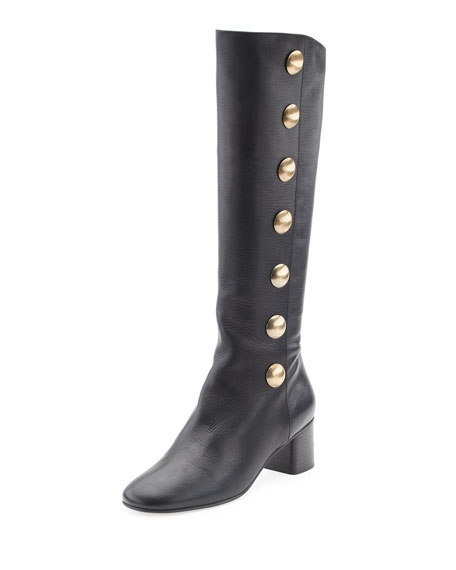 Orlando Button-Detail Knee Boot