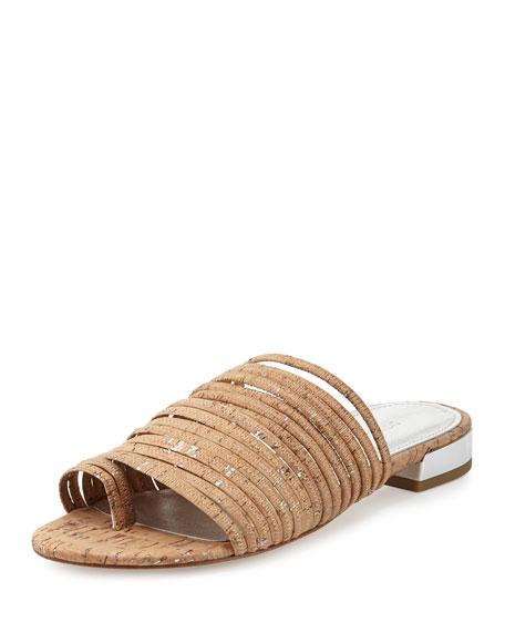 Donald J Pliner Frea Strappy Flat Slide Sandal,