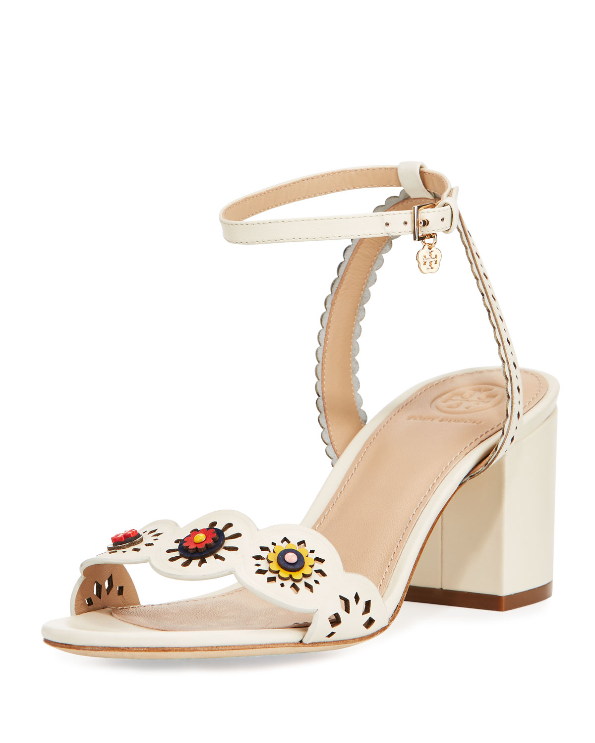2f429a5f5773 Tory Burch Marguerite Perforated Low-Heel Sandal
