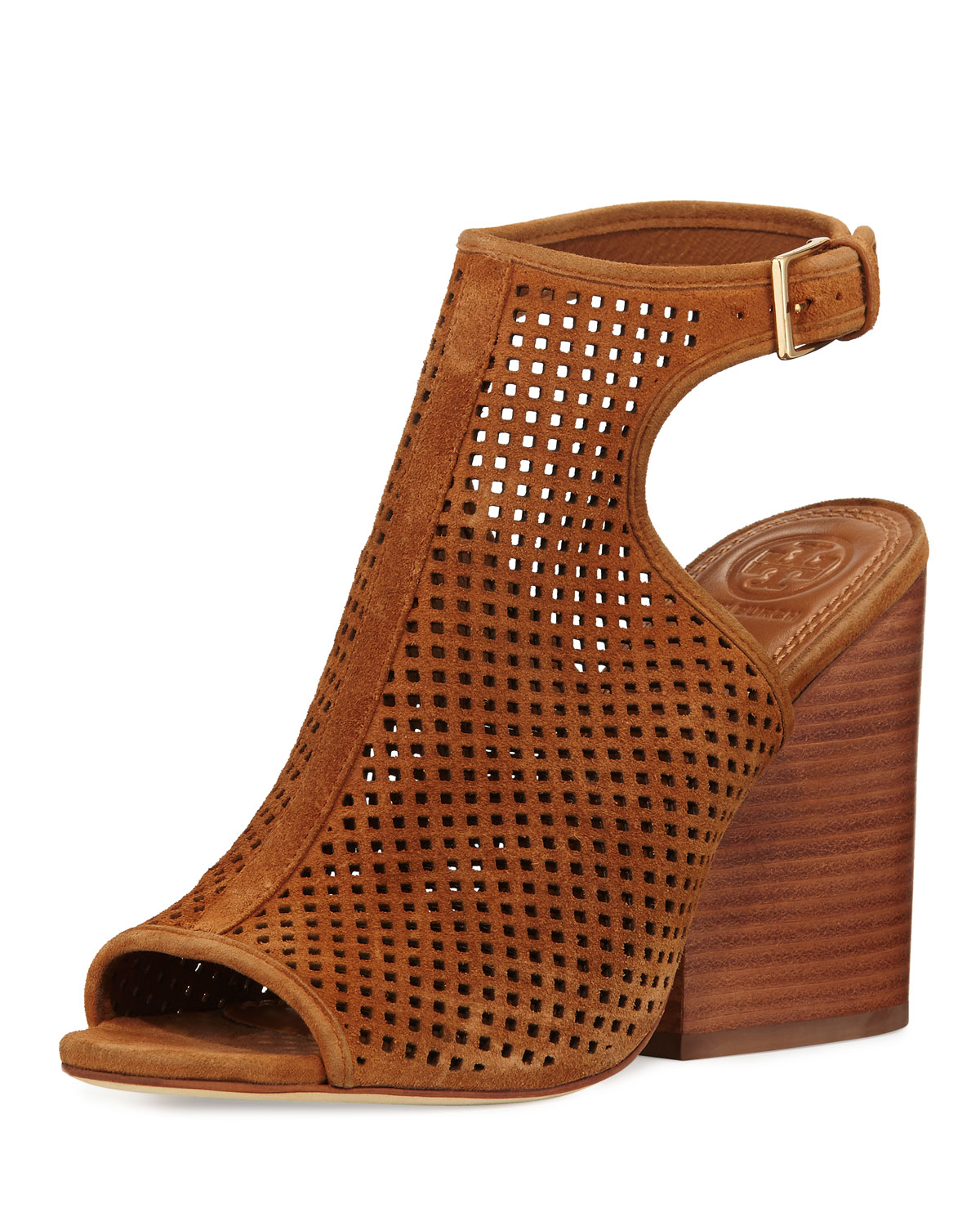 b8f4442400c3 Tory Burch Jesse Perforated Open-Toe Bootie
