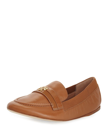 Tory Burch Jolie Stretch-Leather Loafer, Tan