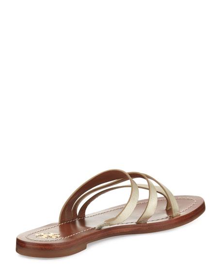Patos Flat Thong Sandal Slide, Gold