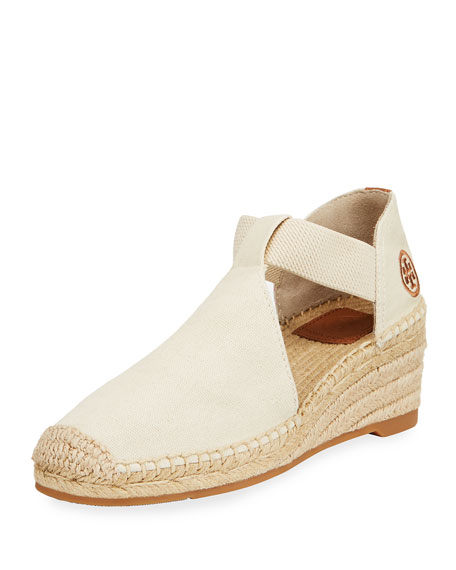 Tory Burch Catalina Canvas Espadrille, Neutral