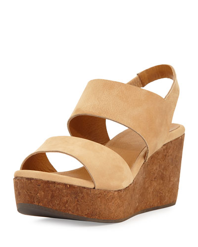 Glassy Wedge Platform Sandal, Sandalo