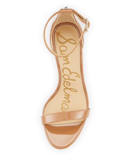 Patti Patent Evening Sandal, Sand