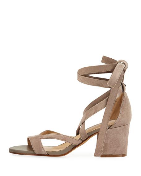 Sheri Suede Ankle-Wrap Sandal