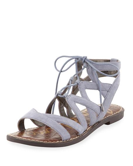 Sam Edelman Gemma Suede Flat Cutout Sandal, Dusty