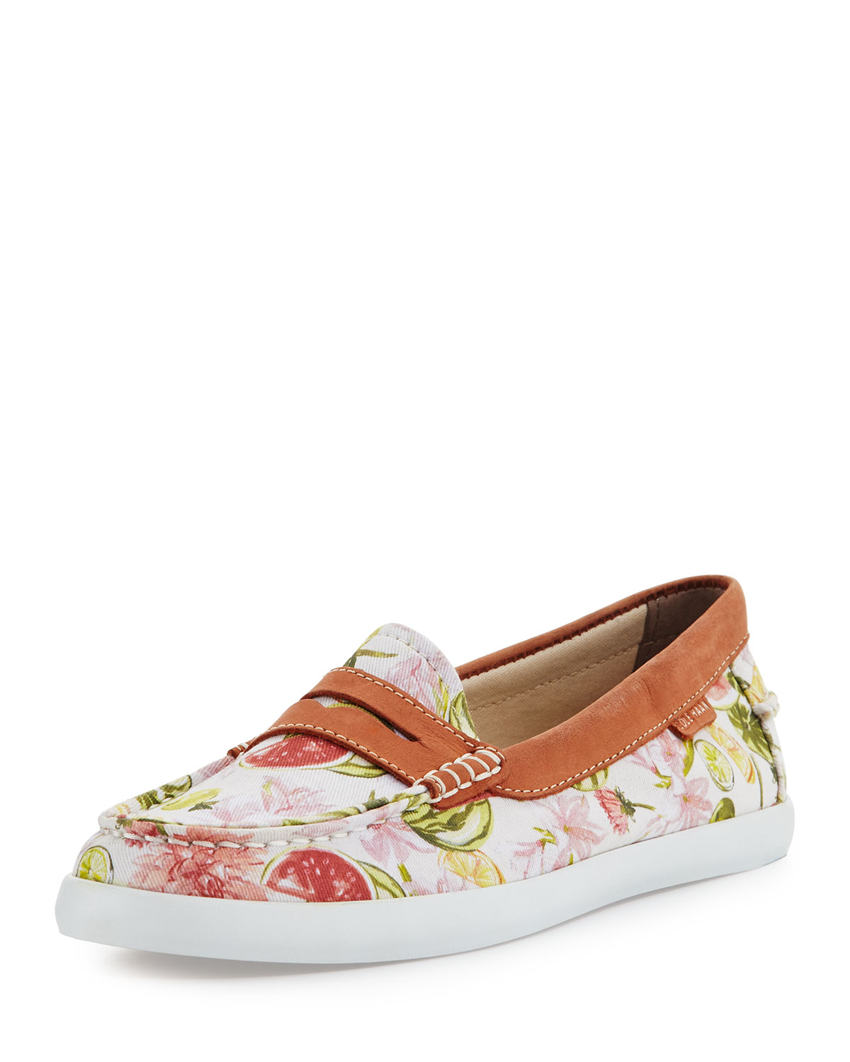 Cole Haan Pinch Weekender Floral Loafer White Neiman Marcus