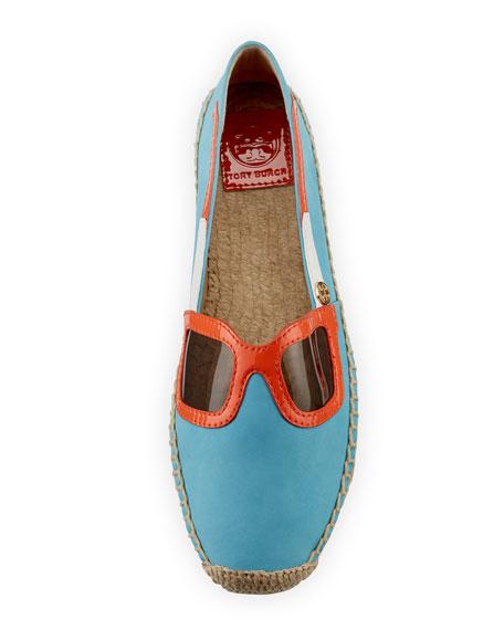 Sunny Sunglasses Leather Espadrille, Light Blue