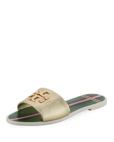 Logo Jelly Slide Sandal, Gold