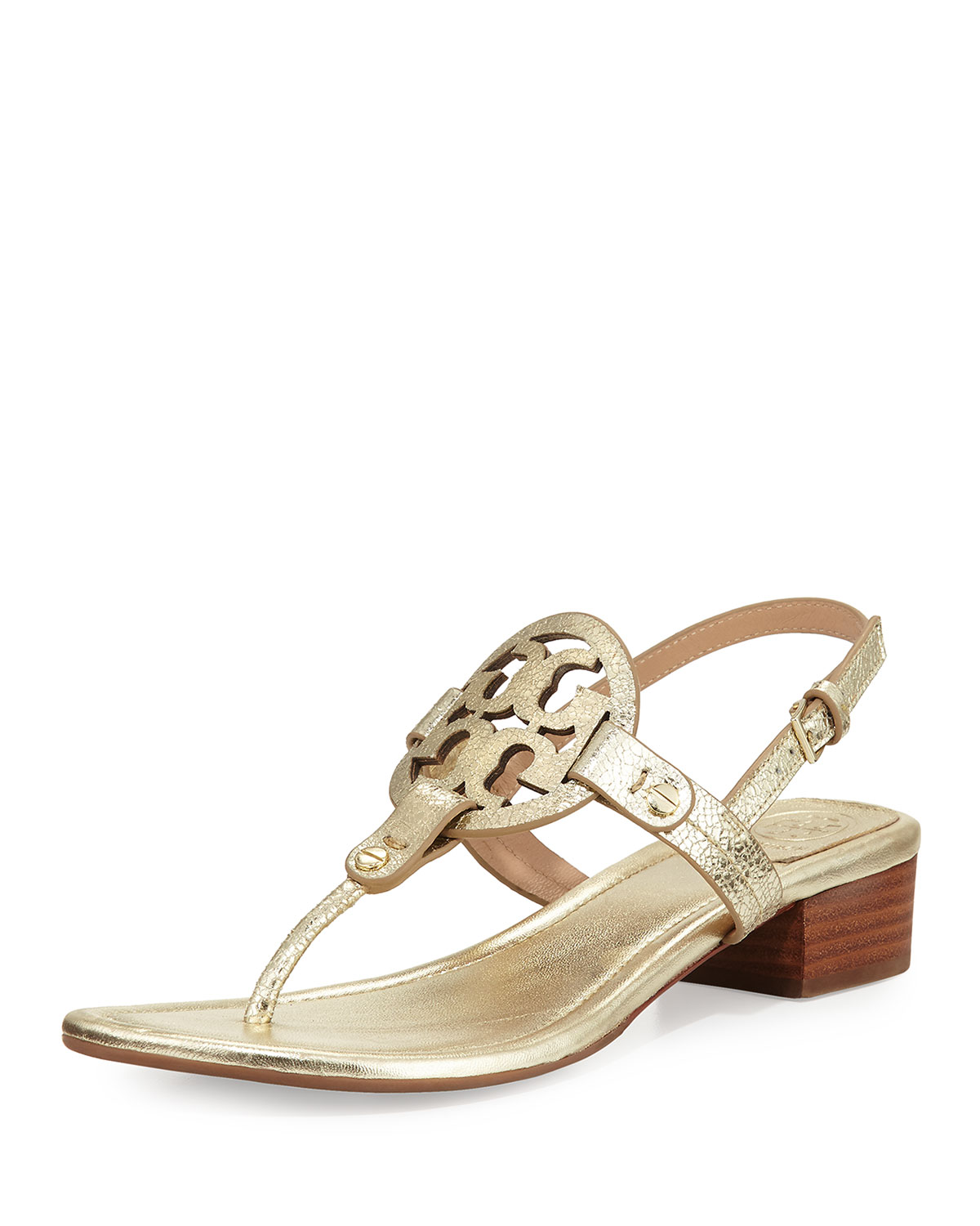 02a16273d Tory Burch Miller Metallic 30mm Thong Sandal