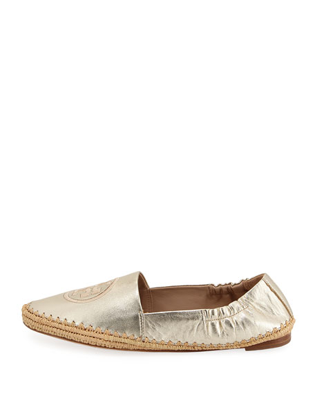 Darien Metallic Espadrille Loafer, Gold