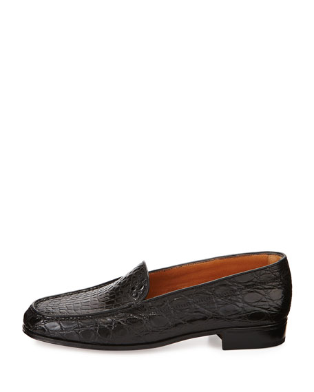Croc Venetian Loafer, Black