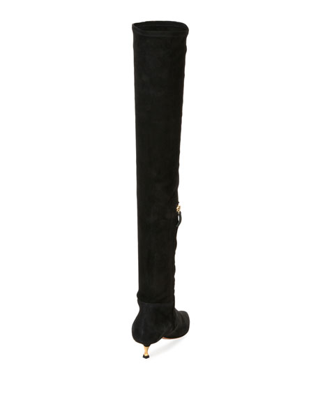 Over-the-Knee Stretch-Suede Boot