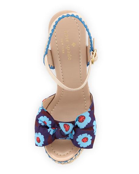 jane floral wedge espadrille sandal, blue