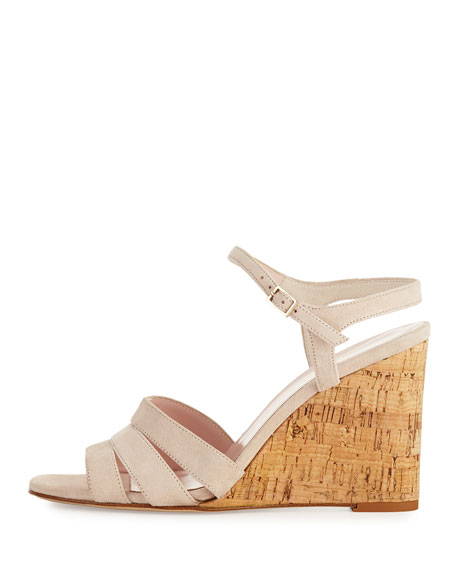 tamara cork wedge sandal, blush