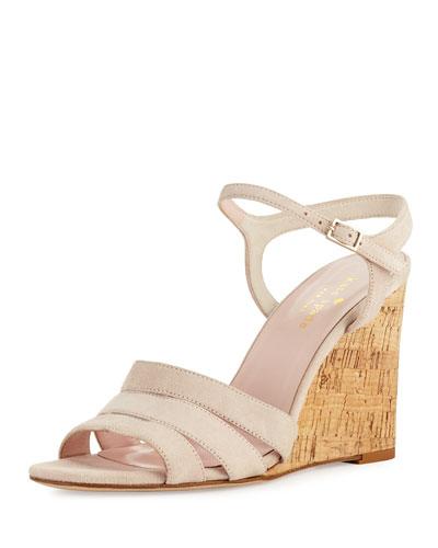 tamara cork wedge sandal, blush