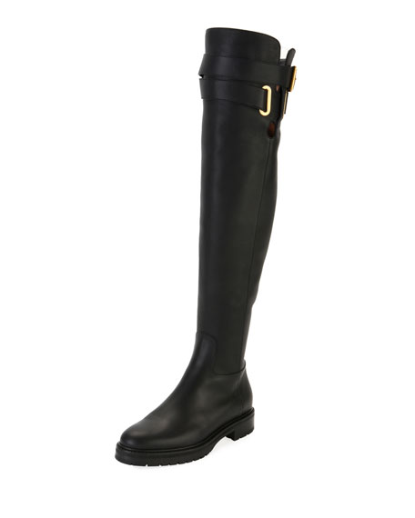 Valentino Garavani Over-the-Knee Leather Boot