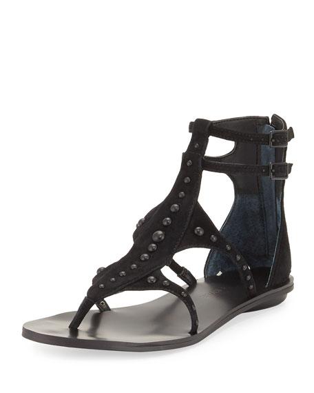 Kendall + Kylie Fayth Studded Gladiator Flat Sandal,