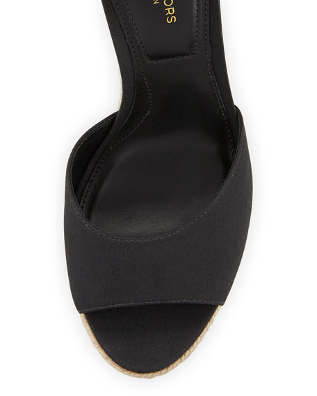 Embry Ankle-Wrap Wedge Sandal, Black