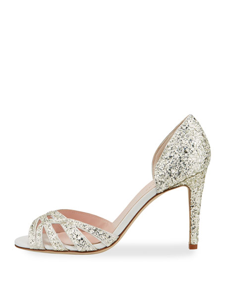 idaya d'Orsay glitter pumps, silver