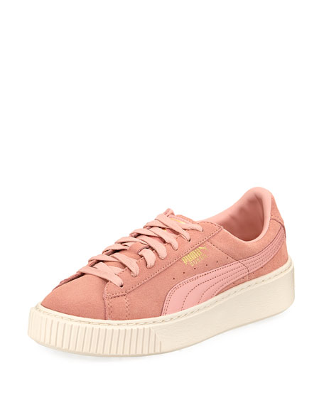 Suede Lace-Up Flatform Sneakers