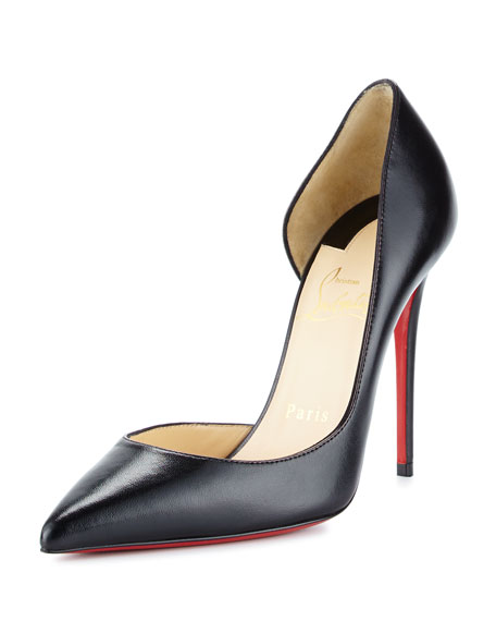 Christian Louboutin Iriza Half-d'Orsay 100mm Red Sole Pump,