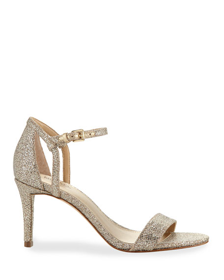 Simone Fabric Strappy Sandals, Gray