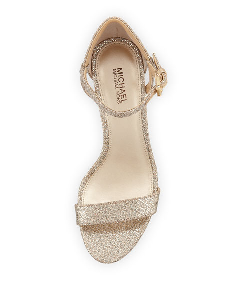 Simone Fabric Strappy Sandal, Gray
