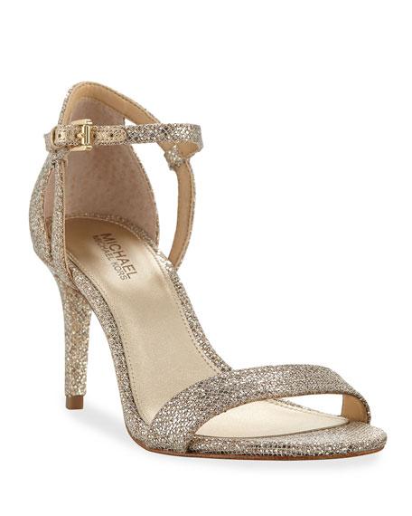MICHAEL Michael Kors Simone Fabric Strappy Sandal, Gray