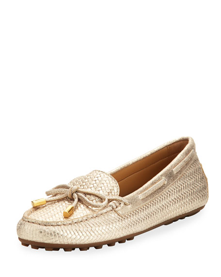 MICHAEL Michael Kors Daisy Metallic Leather Driver Moccasin,