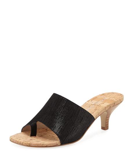 Donald J Pliner Reo Metallic Slide Sandal, Black