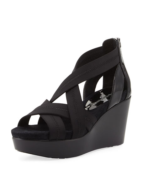 Donald J Pliner Jilli Canvas Wedge Sandal, Black