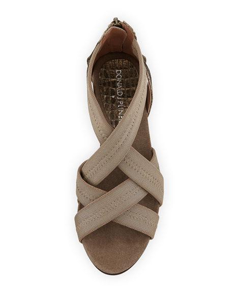 Jilli Canvas Wedge Sandal, Bronze