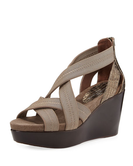 Donald J Pliner Jilli Canvas Wedge Sandal, Bronze