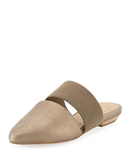 Eileen Fisher Day Two-Piece Pointed-Toe Mule, Platinum