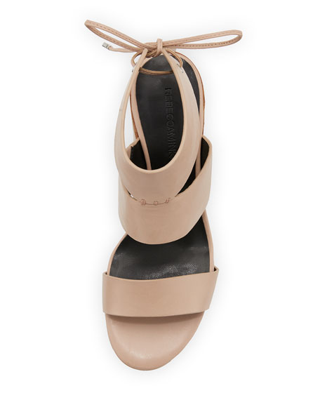Christy Leather City Sandal, Nude
