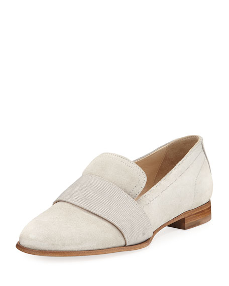 Amber Banded Suede Loafer, Off White