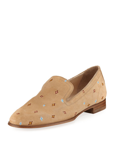 Rag & Bone Amber Embroidered Loafer, Camel