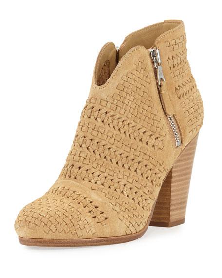 Rag & Bone Margot Woven Ankle Bootie, Camel
