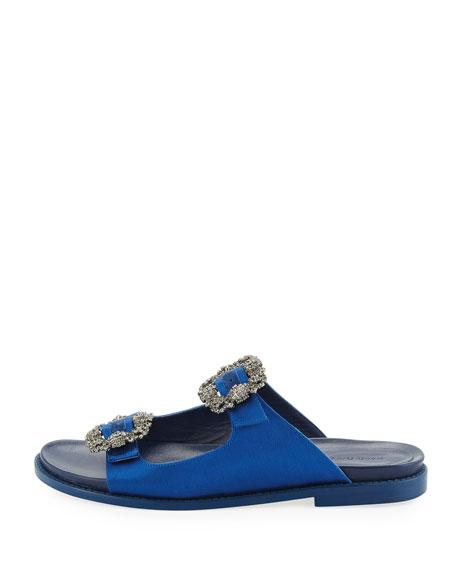 Sturlushangi Satin Slide Sandals