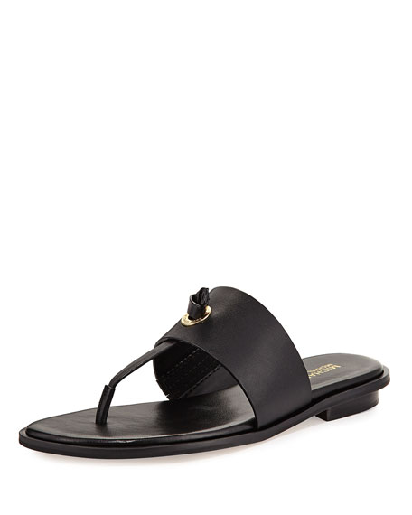 MICHAEL Michael Kors Cindy Vachetta Flat Slide Sandal,